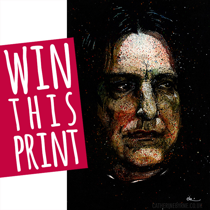 Win a print of Alan Rickman as Severus Snape by Cat Byrne