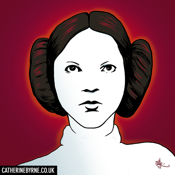 Princess Leia - Carrie Fisher commission by Cat Byrne Star Wars