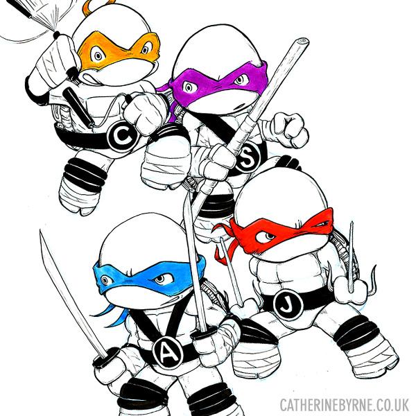 TMNT commission by Cat Byrne Teenage Mutant Ninja Turtles