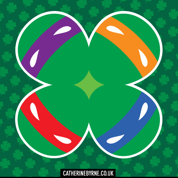 TMNT shamrock four leaf clover st patricks day by cat byrne
