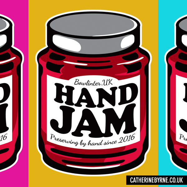 Hand Jam tryptic for Bowlinter UK