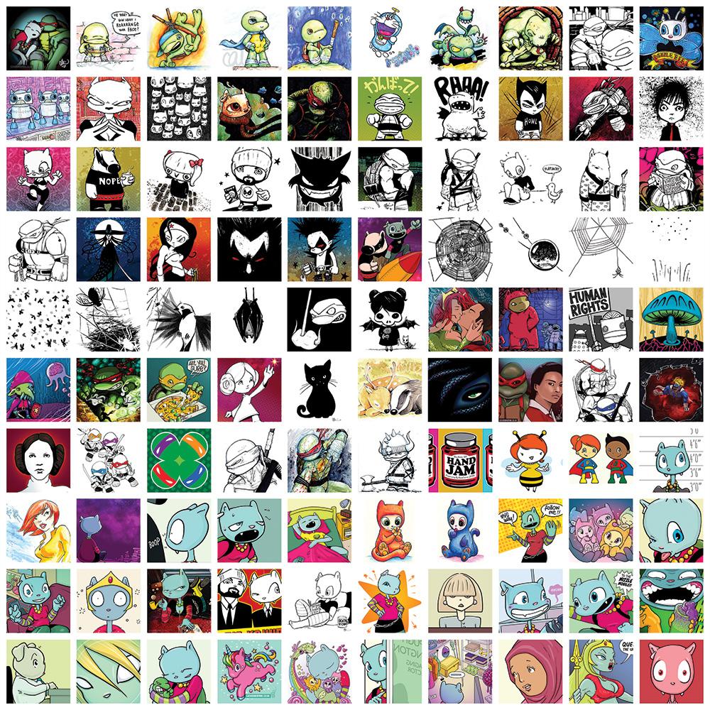 1000 drawings by Cat Byrne: 401-500
