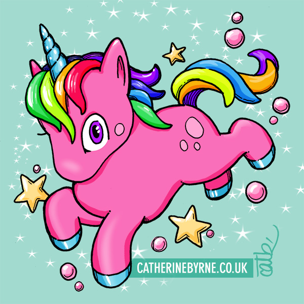 Rainbow unicorn by Cat Byrne