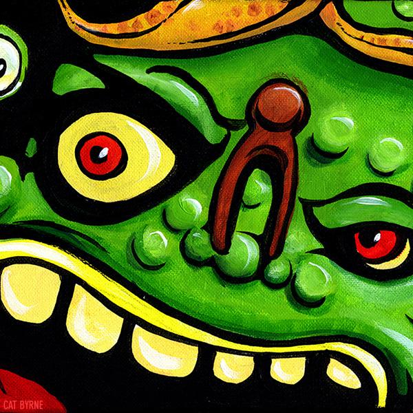 TMNT Muckman original art by Cat Byrne