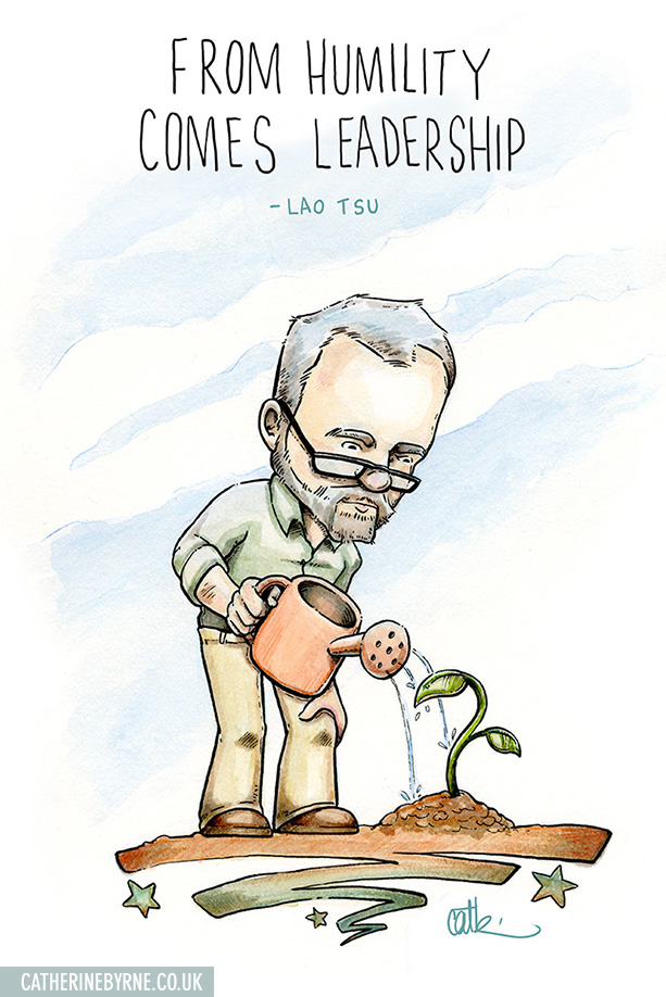 Jeremy Corbyn gardening in his allotment by Cat Byrne