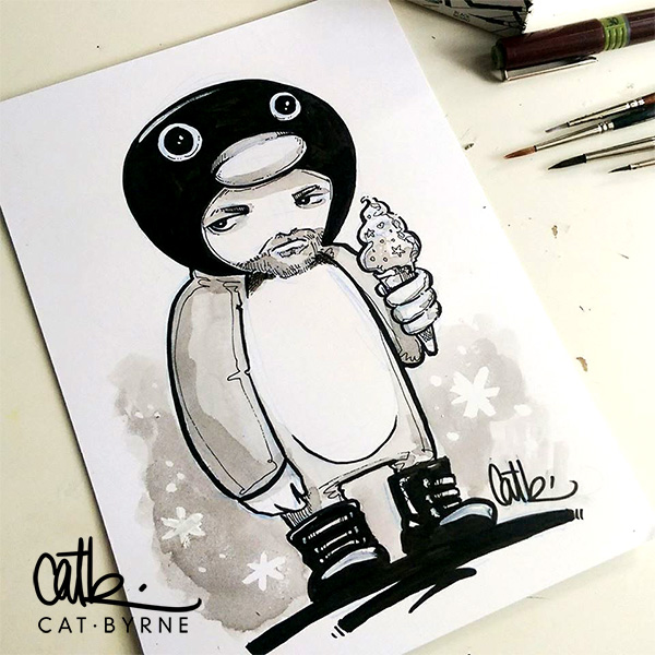 Peter the penguin for inktober 2017 by Cat Byrne