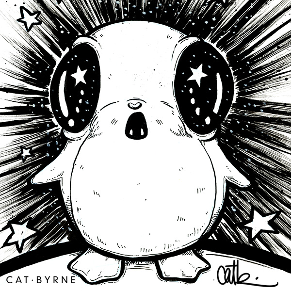 Star Wars Porg by Cat Byrne for Inktober