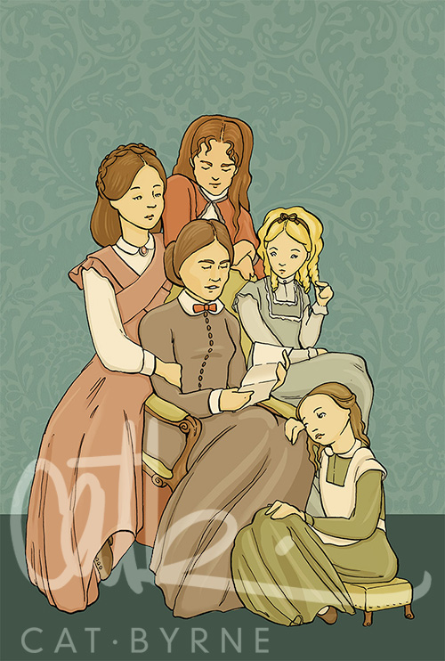 Little Women book cover by Cat Byrne