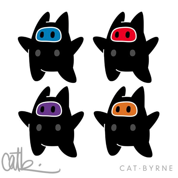 Ninji Turtles by Cat Byrne