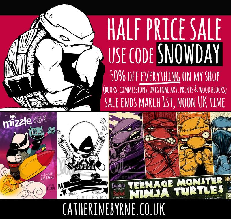 Half price sale February 2018