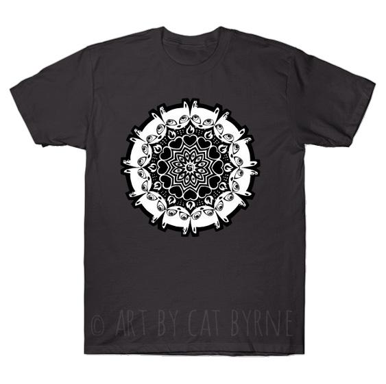 Mizzledala cat mandala T-shirt