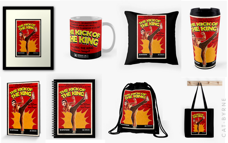The Kick of the King - Eric Cantona - Manchester United Accessories by Cat Byrne