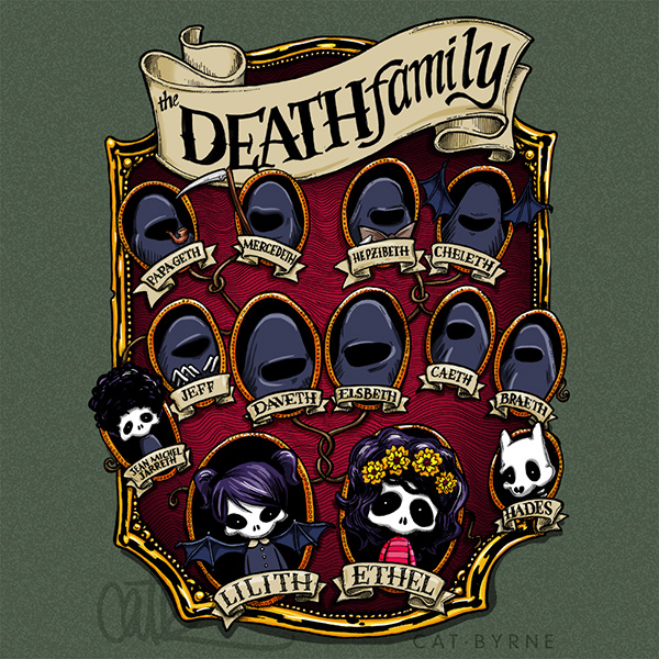 The Life of Ethel Death - the Death Family Tree - comic by Cat Byrne