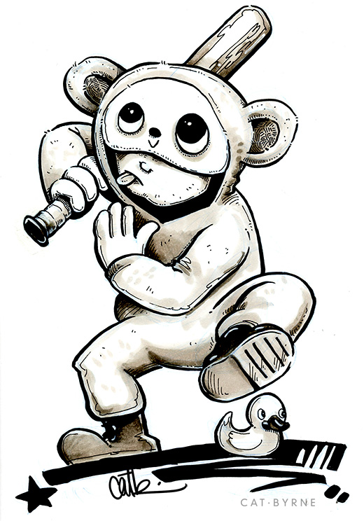Ninja Monket Splank Comic sketch by Cat Byrne