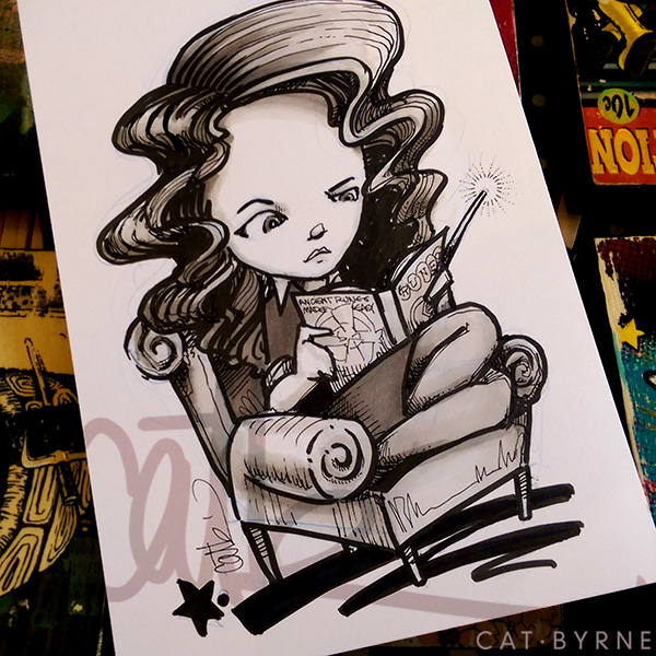 Hermione Granger sketch by Cat Byrne