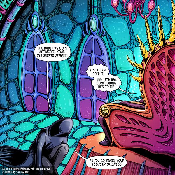 Mizzle: Flight of the Bumblecat Part 2 comic by Cat Byrne