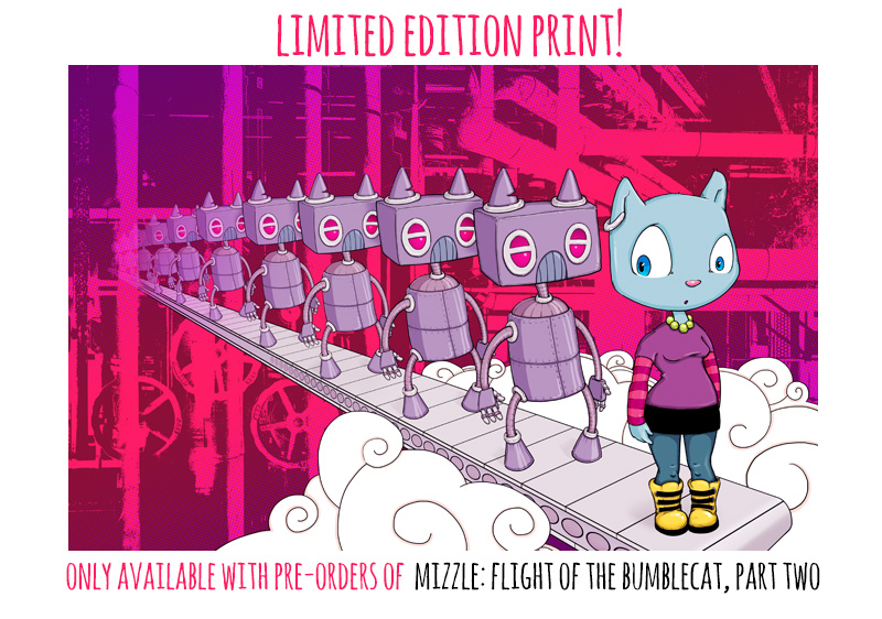 Mizzle limited edition print by Cat Byrne