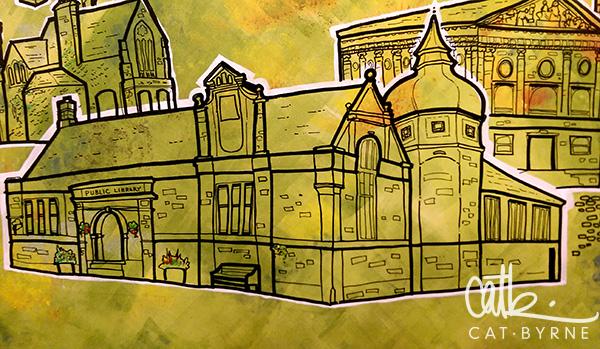 Todmorden Library mural: Todmorden Library!