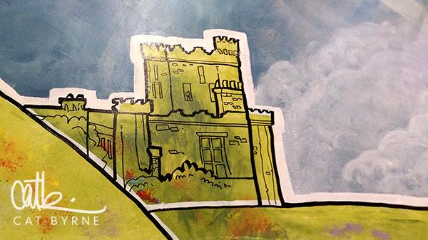Todmorden Library mural: Dobroyd Castle