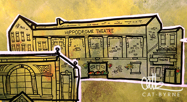 Todmorden Library mural: Hippodrome Theatre