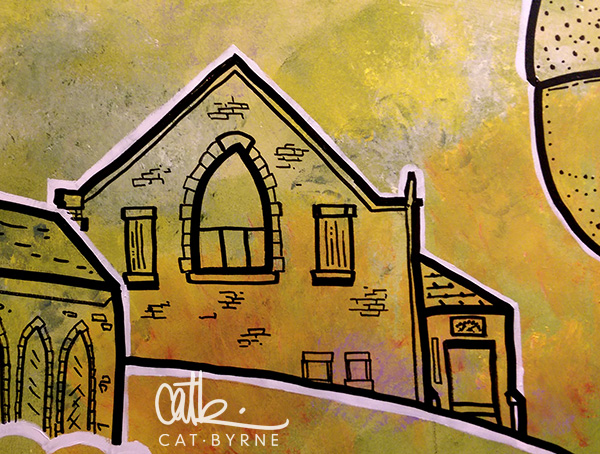 Todmorden Library Mural:  Hamza Mosque and Muslim Society
