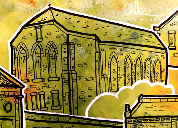 Todmorden Library mural: St Joseph's Church