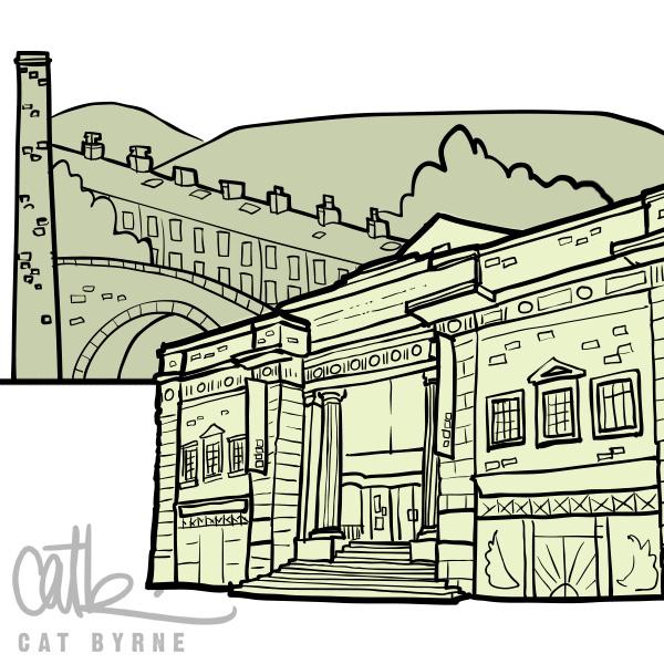Hebden Bridge film festival illustration by Cat Byrne