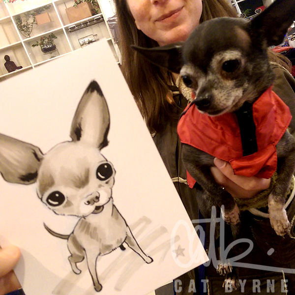 Toto the chihuahua commission art by Cat Byrne