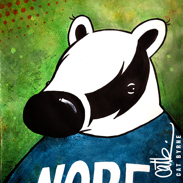Muggy the Badger commission from Mizzle Comic by Cat Byrne