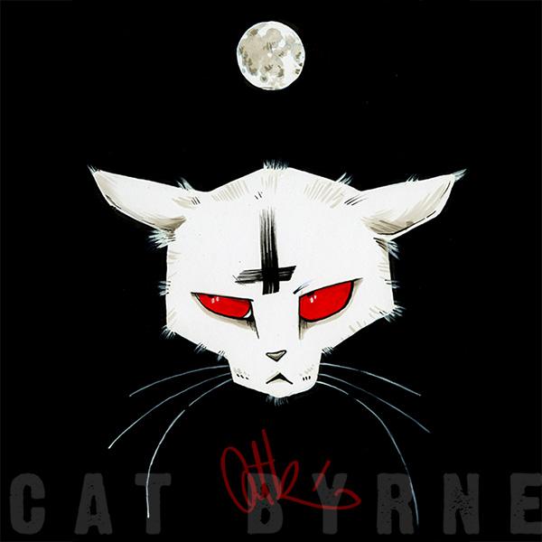 Demon cat commission by Cat Byrne