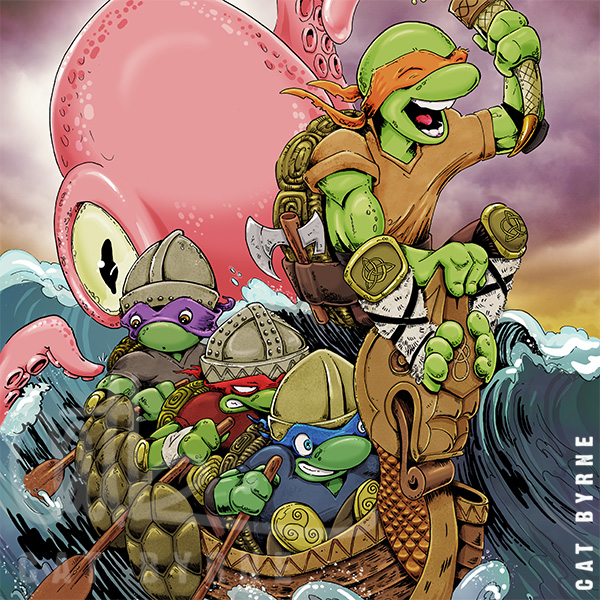 TMNT Viking Ninja Turtles - A Kraken Day Out - Cat Byrne